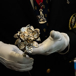 Silver Rose in gloved hands