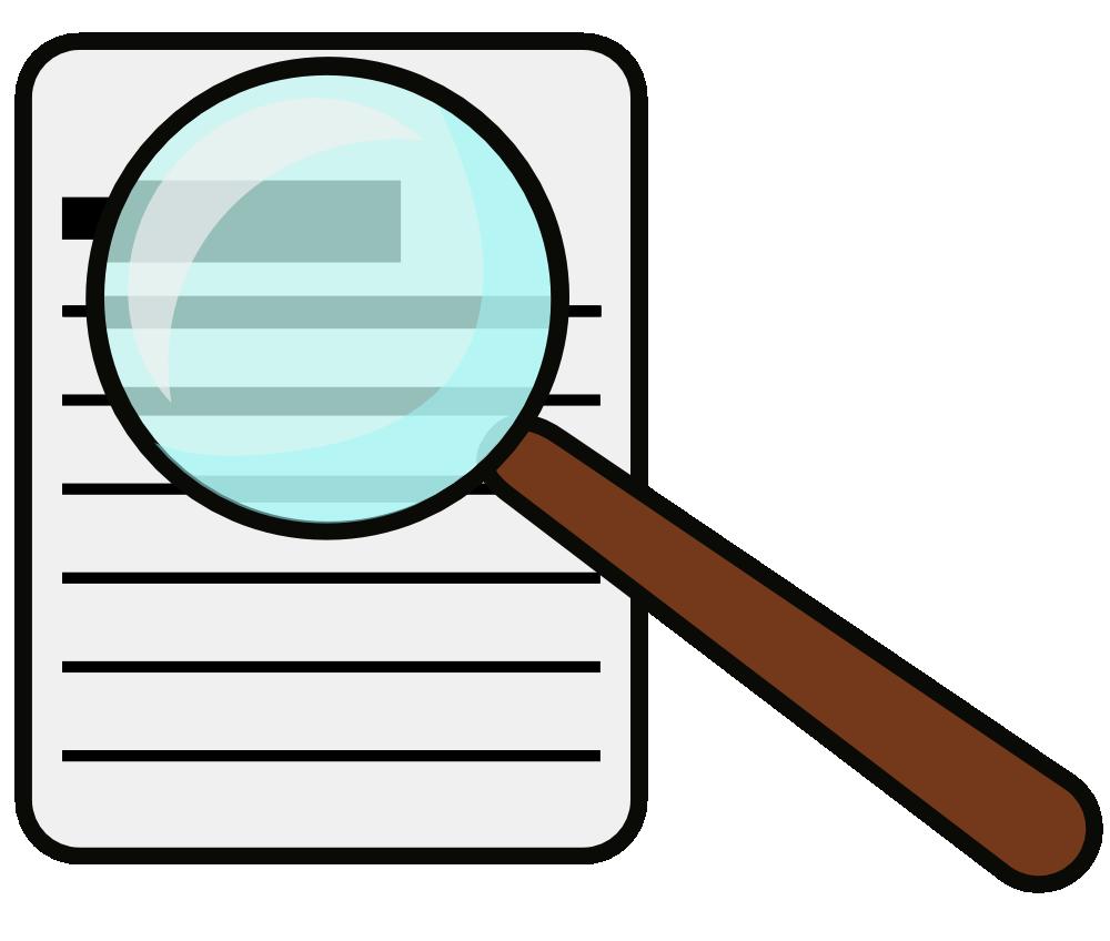 Magnifer on document